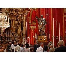 The Solid Silver Statue (St Philip) Zebbug Parish Malta Photographic Print