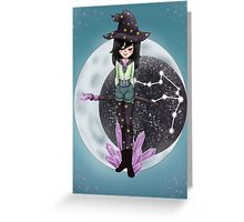 Astro Witch Greeting Card
