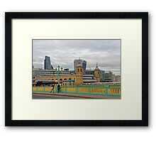 Crossing Bridges, London, United Kingdom Framed Print