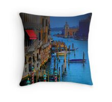 Red Awning in Venice Throw Pillow