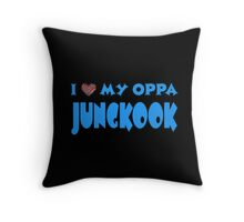I HEART MY OPPA JUNGKOOK  - BLACK  Throw Pillow