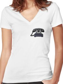 telephone Women's Fitted V-Neck T-Shirt