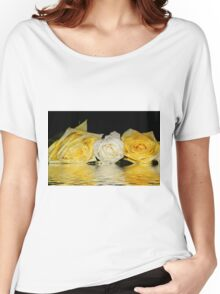 Roses white and yellow. Women's Relaxed Fit T-Shirt