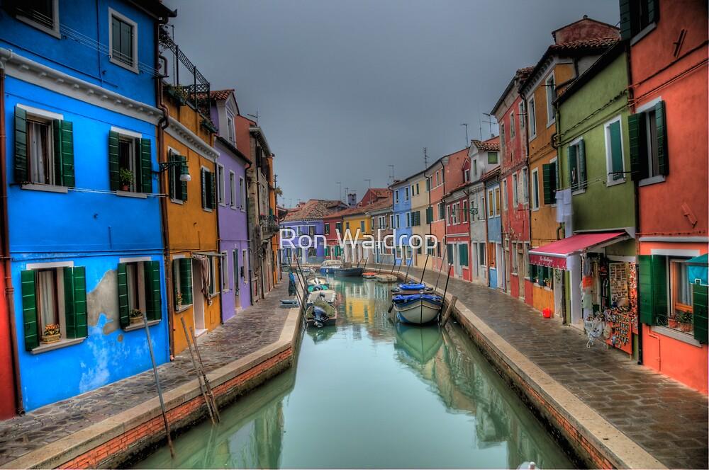 Venetian Canal Scene by Ron Waldrop