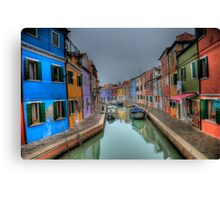 Venetian Canal Scene Canvas Print