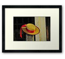 Gondolier's Hat Framed Print