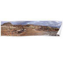 Badlands erosion Poster