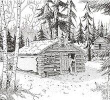 Alaskan Indian Village by BobHenry