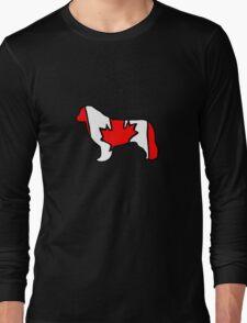 Newfoundland Dog Flag of Canada Long Sleeve T-Shirt