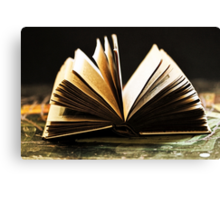 Open Book -Pages- Canvas Print
