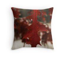 Red Winter  Throw Pillow