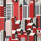Urban city landscape  by Alexzel