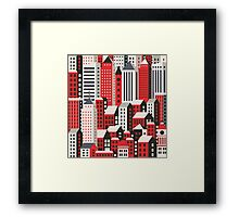 Urban city landscape  Framed Print