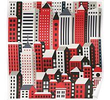 Urban city landscape  Poster