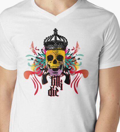 TILLIDIE Mens V-Neck T-Shirt