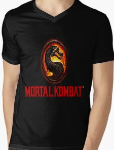 Mortal Kombat Logo Mens V-Neck T-Shirt