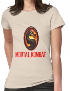 Mortal Kombat Logo Womens Fitted T-Shirt