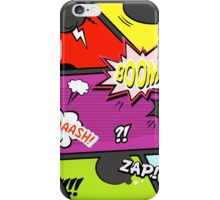 onomatopoeia boom zap splash pop art comic book  iPhone Case/Skin
