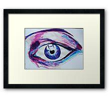 Ink Eye Framed Print