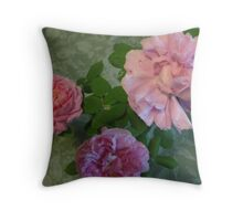 Roses close up Throw Pillow