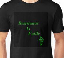 Resistance Is Futile Black Ingress Unisex T-Shirt