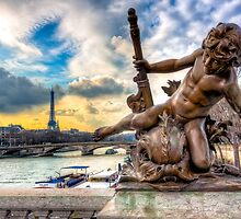 Parisian Cherub On The  Pont Alexandre III by Mark Tisdale