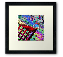 Psychedelic Table Framed Print