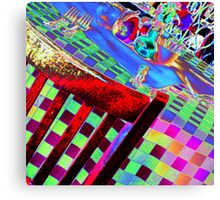 Psychedelic Table Canvas Print