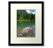Lake Blausee Framed Print