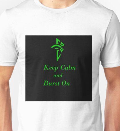 Keep Calm and Burst On Black Unisex T-Shirt