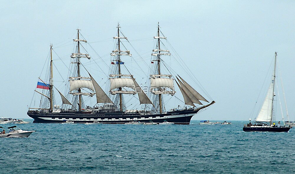 Tall Ships Atlantic Challenge 2009 - Kruzenshtern by triciamary