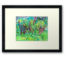 TREE SCENERY Framed Print