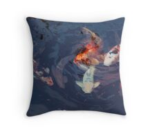 FISH POND No2 Throw Pillow