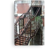Rusty Staircase going Nowhere Canvas Print