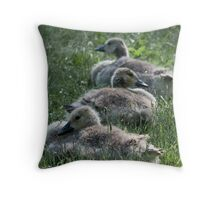 getting your geese in a row... Throw Pillow