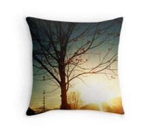 Morning Sunsets Throw Pillow