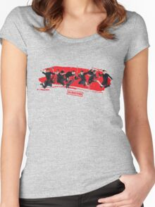 mcbusted red Women's Fitted Scoop T-Shirt