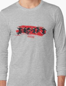 mcbusted red Long Sleeve T-Shirt