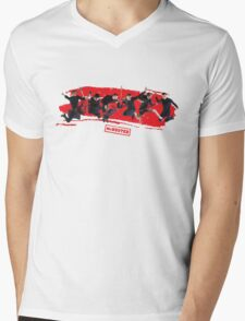 mcbusted red Mens V-Neck T-Shirt