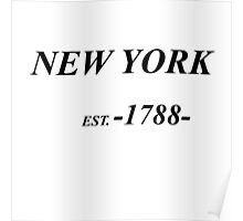 NYC est. 1788 Poster