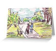 PARK DAY WITH BABY STROLLERS Greeting Card