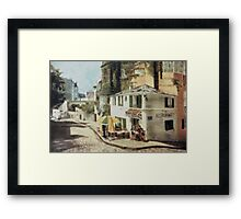 Paris Cafe Painting Framed Print