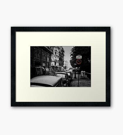 Vintage Paris Street 1967 Framed Print