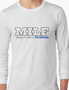MILF (re-design) White Long Sleeve T-Shirt