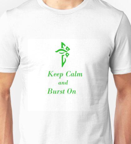 Keep Calm and Burst On White Enlightened Unisex T-Shirt