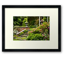 Step Into The Garden Framed Print