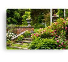 Step Into The Garden Canvas Print