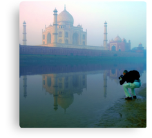 Taj Mahal and the Photographer Canvas Print