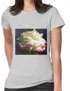 White Ranunculus Womens Fitted T-Shirt