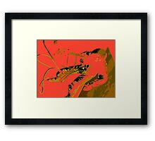Space Series : Gemini EVA 1 Abstract Red [#3] Framed Print